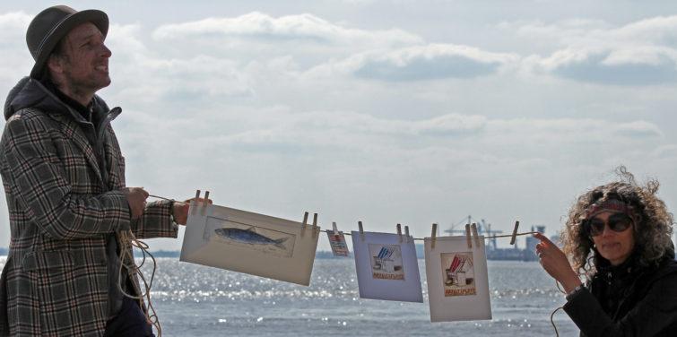 Atelier unter freiem Himmel in Cuxhaven